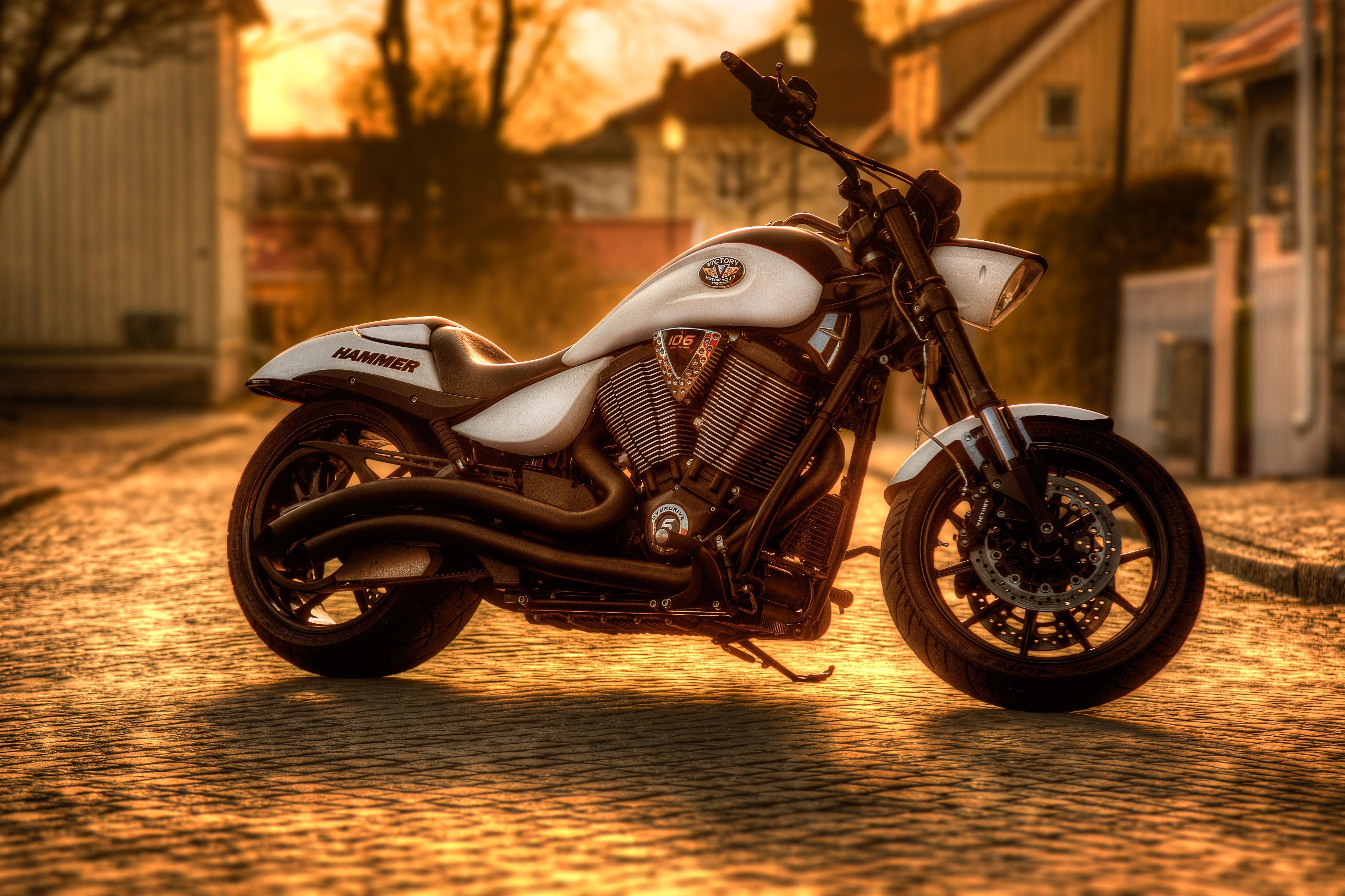 Motor bike in the sunset ideal for Biking