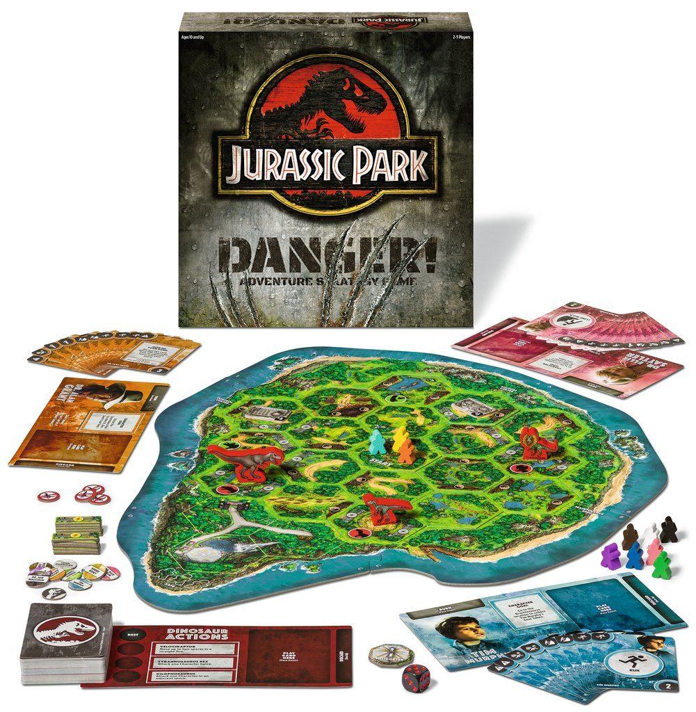 Jurassic Park: Danger board game set up